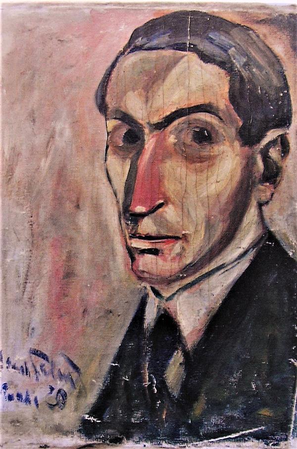Autoportret, ulje na platnu, Prag 1920