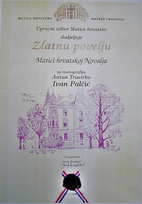 Zlatna povelja Matice hrvatske