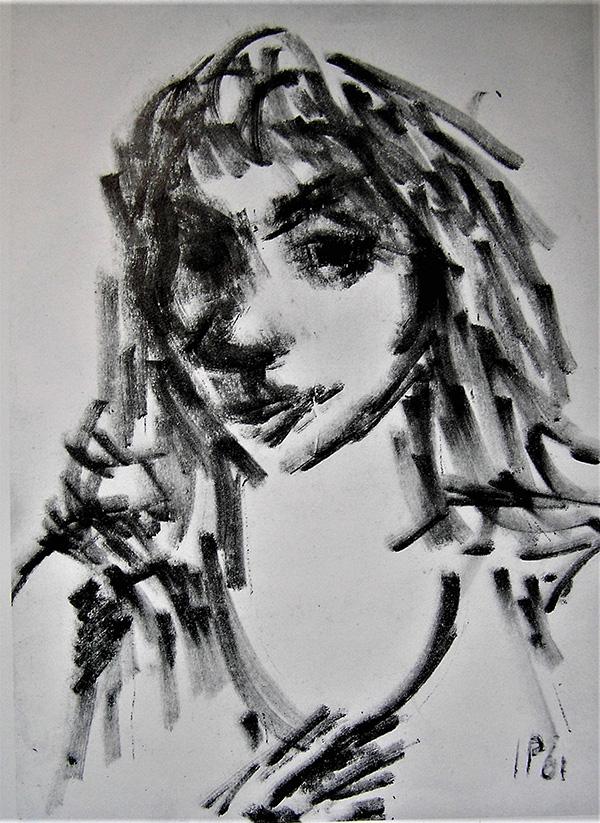 Ivan Palčić, Portret žene (1961.) Galerija umjetnina Zadar, preuzeto iz monografije