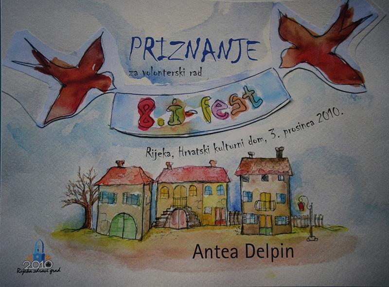 Antea Delpin i priznanje