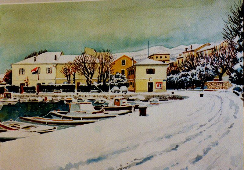 mandrać pod snijegom